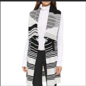 Vince cashmere wool blend cardigan vest Grey Cream
